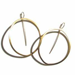 small oval hoop - Lisa Crowder Jewelry