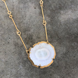 solar quartz and vermeil necklace