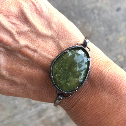 vesuvianite cuff bracelet - Lisa Crowder Jewelry