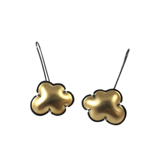 vermeil cloud earrings - Lisa Crowder Jewelry