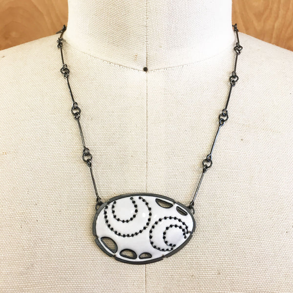 Small Scallop Stitch Necklace - Lisa Crowder Studio
