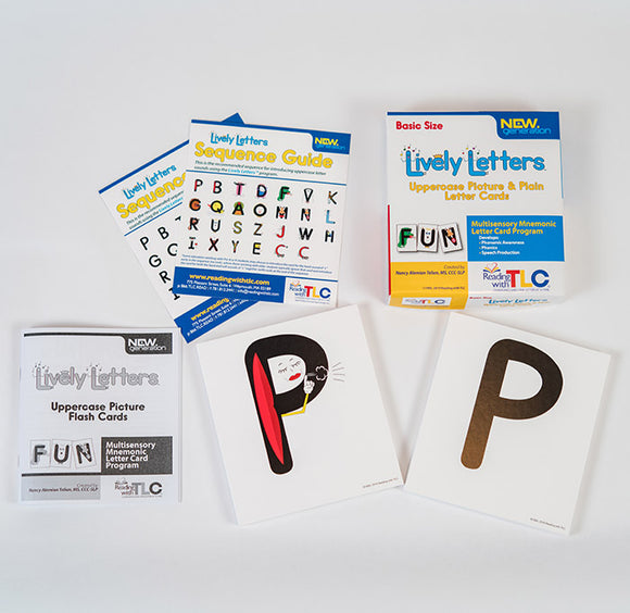New Generation Lively Letters™ Class Size Uppercase Picture and Plain Letter Cards