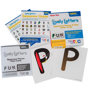 New Generation Lively Letters™ Basic Size Uppercase Picture and Plain Letter Cards