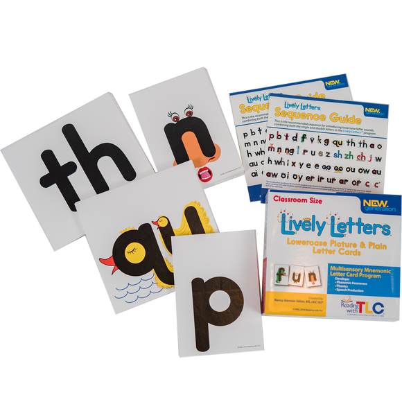 New Generation  Lively Letters™ Class Size Lowercase Picture and Plain Letter Cards
