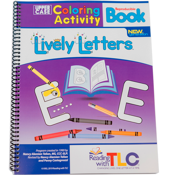New Generation Lively Letters™ Digital Reproducible Uppercase Coloring Activity Book (E-Product)