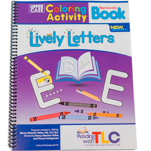 New Generation Lively Letters™ Reproducible Uppercase Coloring Activity Book-Digital Download E-Book