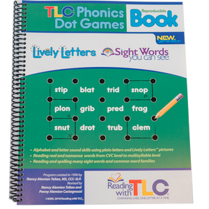 New Generation Reading with TLC Phonics Dot Games Reproducible Workbook-Digital Download E-Book