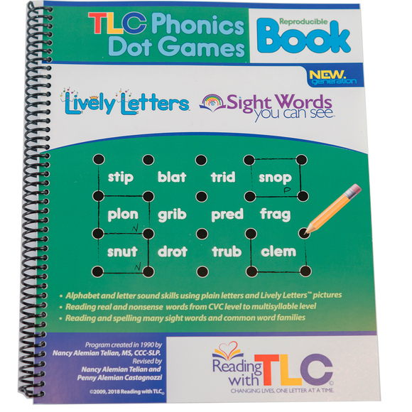New Generation Reading with TLC Phonics Dot Games Reproducible Workbook