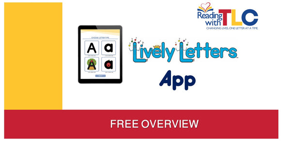 10-7-19 FREE Lively Letters Phonics App Instructional Showcase Live/Recorded Webinar