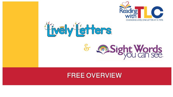 9-16-2020  FREE 30 Minute Reading with TLC Lively Letters Overview Live/ Recorded Webinar