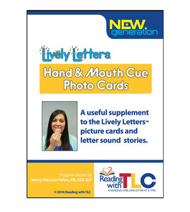 Lively Letters Hand and Mouth Cue Photo Cards
