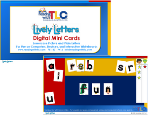 New Generation Lively Letters Digital Lowercase Mini Cards E-Product