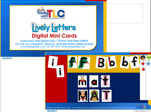 New Generation Lively Letters Digital Lowercase & Uppercase Mini Cards E-Product