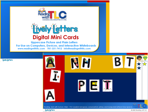 New Generation Lively Letters Digital Uppercase Mini Cards E-Product