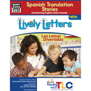 New Generation Lively Letters™ Spanish Translations: Phonics Stories for the English Sounds, Uppercase & Lowercase (Book)