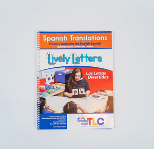 Lively Letters™ Spanish Translations: Phonics Stories for the English Sounds, Uppercase & Lowercase (Book)