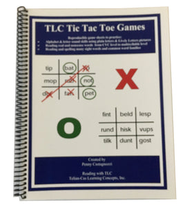 Reading with TLC Tic Tac Toe Games