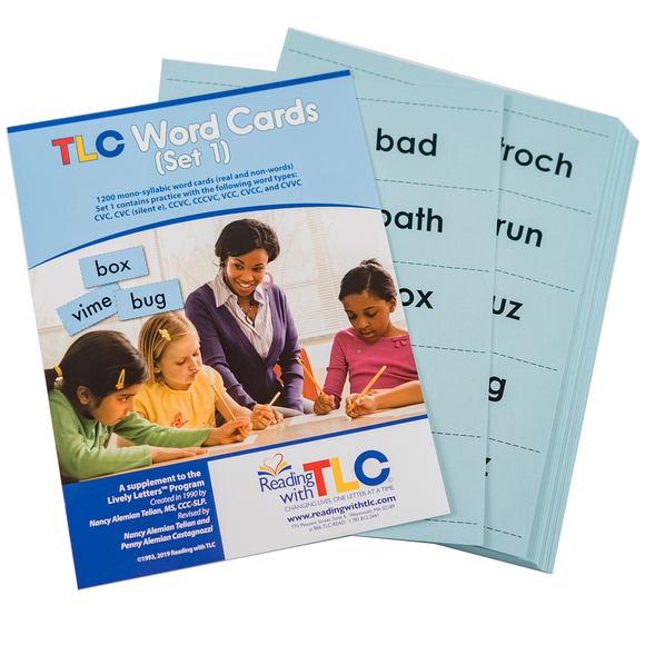Reading with TLC Word Cards - Set 1
