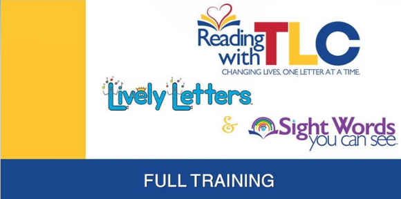 4-5 & 4-6-2021 Reading with TLC: Lively Letters Full Training with Tips for Teaching Online Live and Recorded Webinar