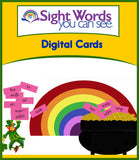 Sight Words You Can See Digital Cards E-Product