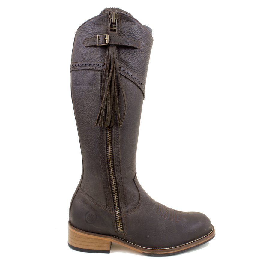 Mustang - Mid Calf Boot - Brown - Size 39 - Factory Second - 192