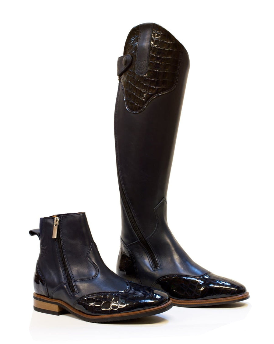 Milan Long Riding Boots - Blue