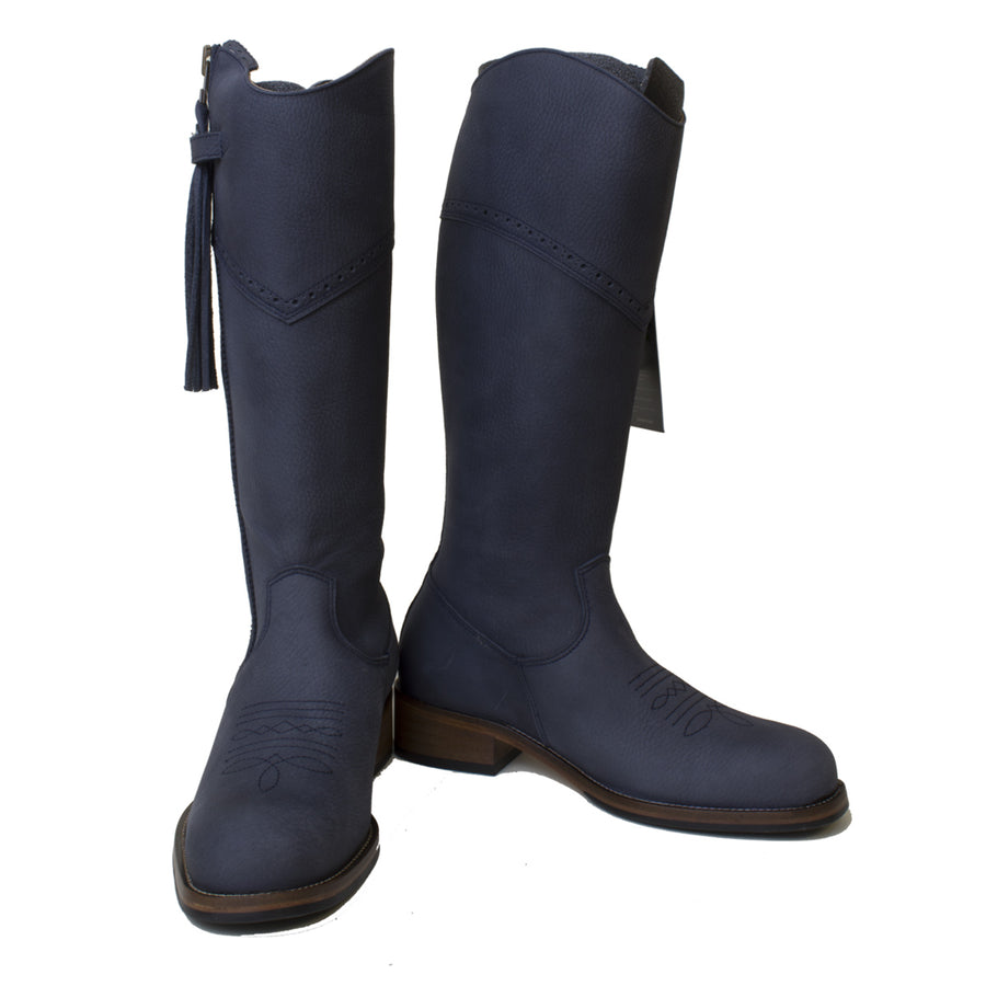Mustang - Mid Calf - Blue - Size 39 - Factory Second