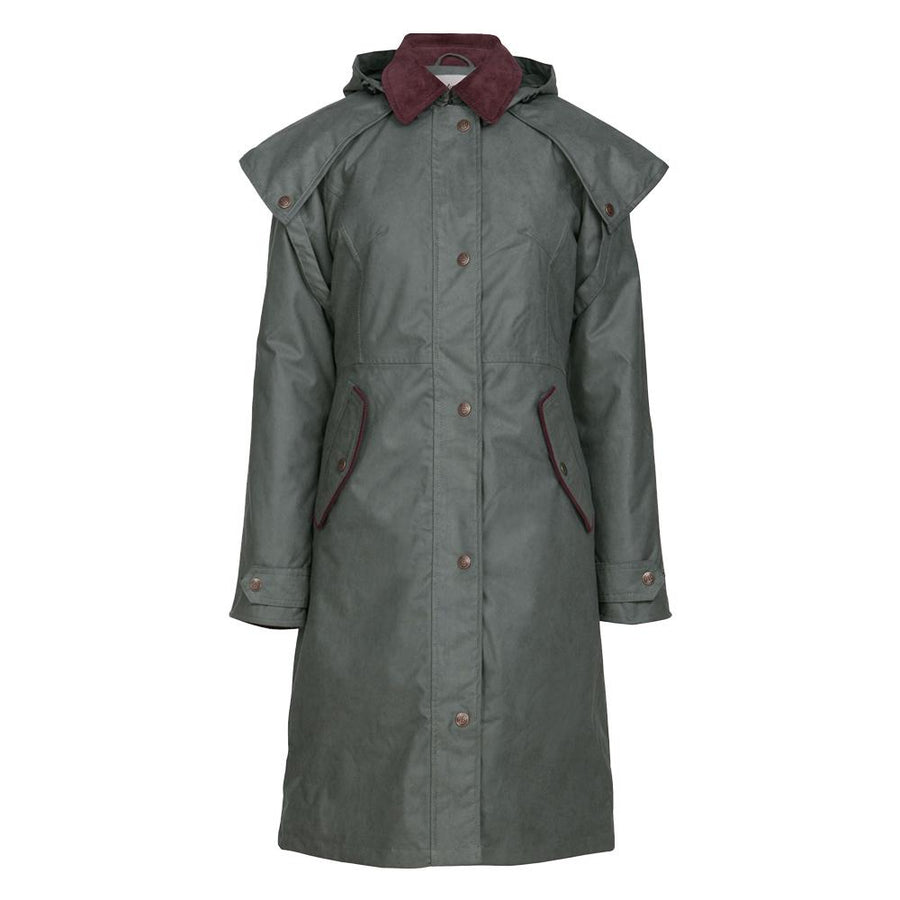 Manhattan Long Waterproof Jacket - Olive - Bareback Footwear