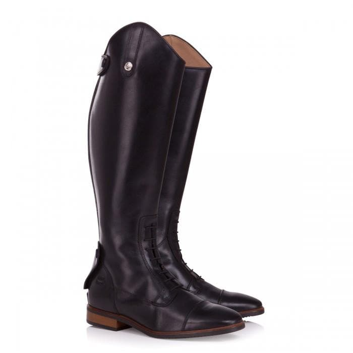 Beaumont Long Riding Boots - Black - Bareback Footwear