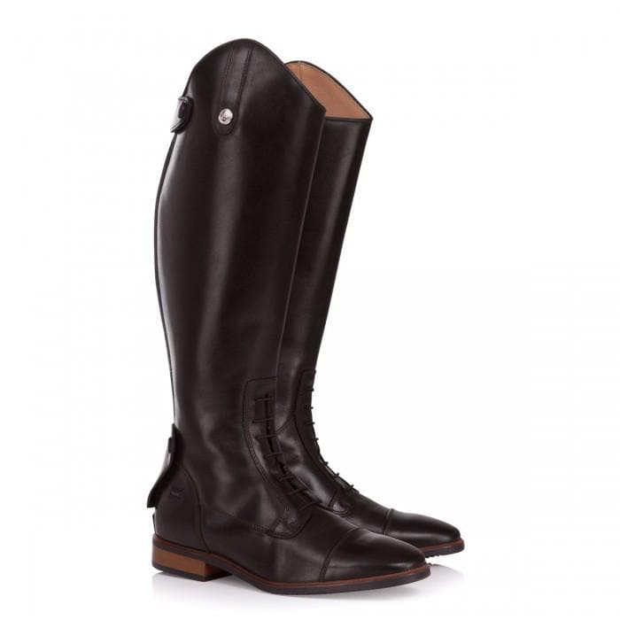 Beaumont Long Riding Boots - Chocolate Brown - Bareback Footwear