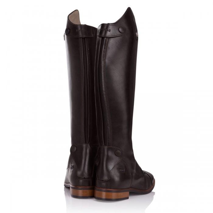 Beaumont Long Riding Boots - Chocolate Brown - Made to Measure - Bareback Footwear