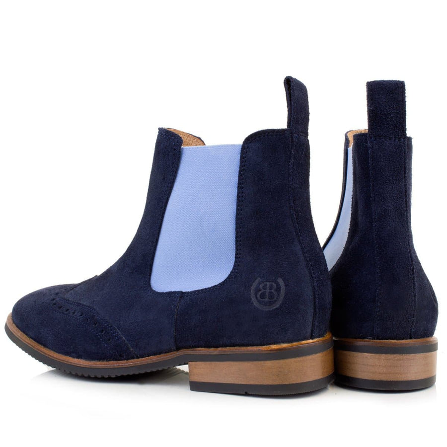 Charleston Blue short boot - Bareback Footwear