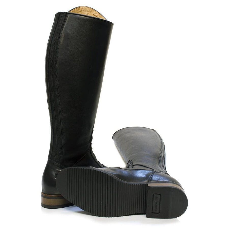 Graceland Long Riding Boot- Black - Bareback Footwear