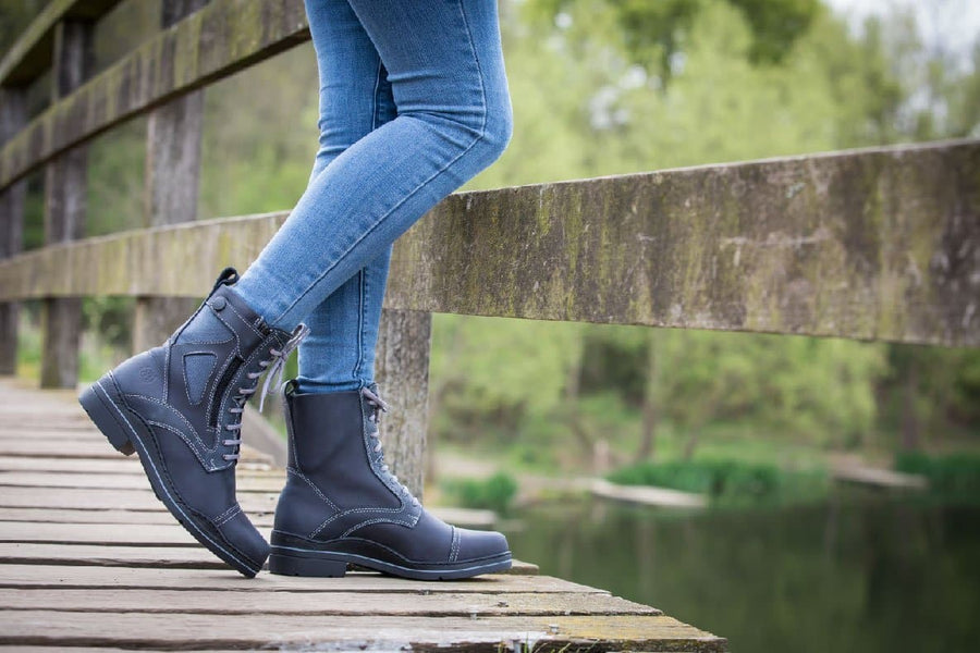 Kentucky blue jodhpur boots