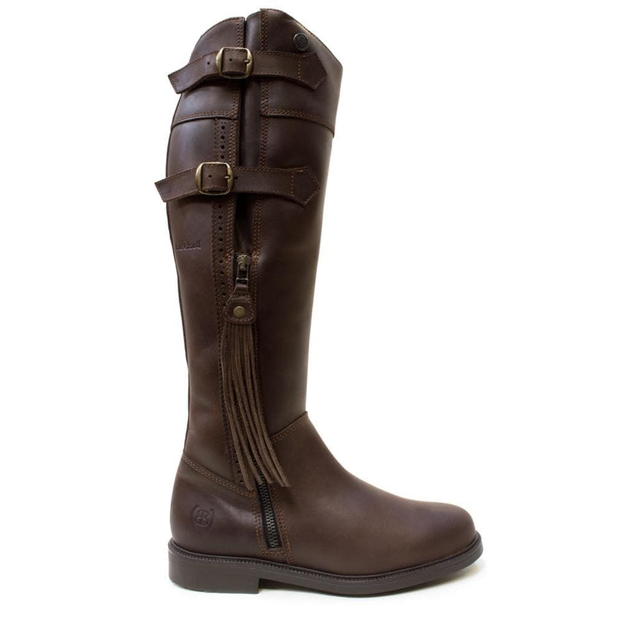Lucianna Tassel Boots - Brown- Standard & Wide calf