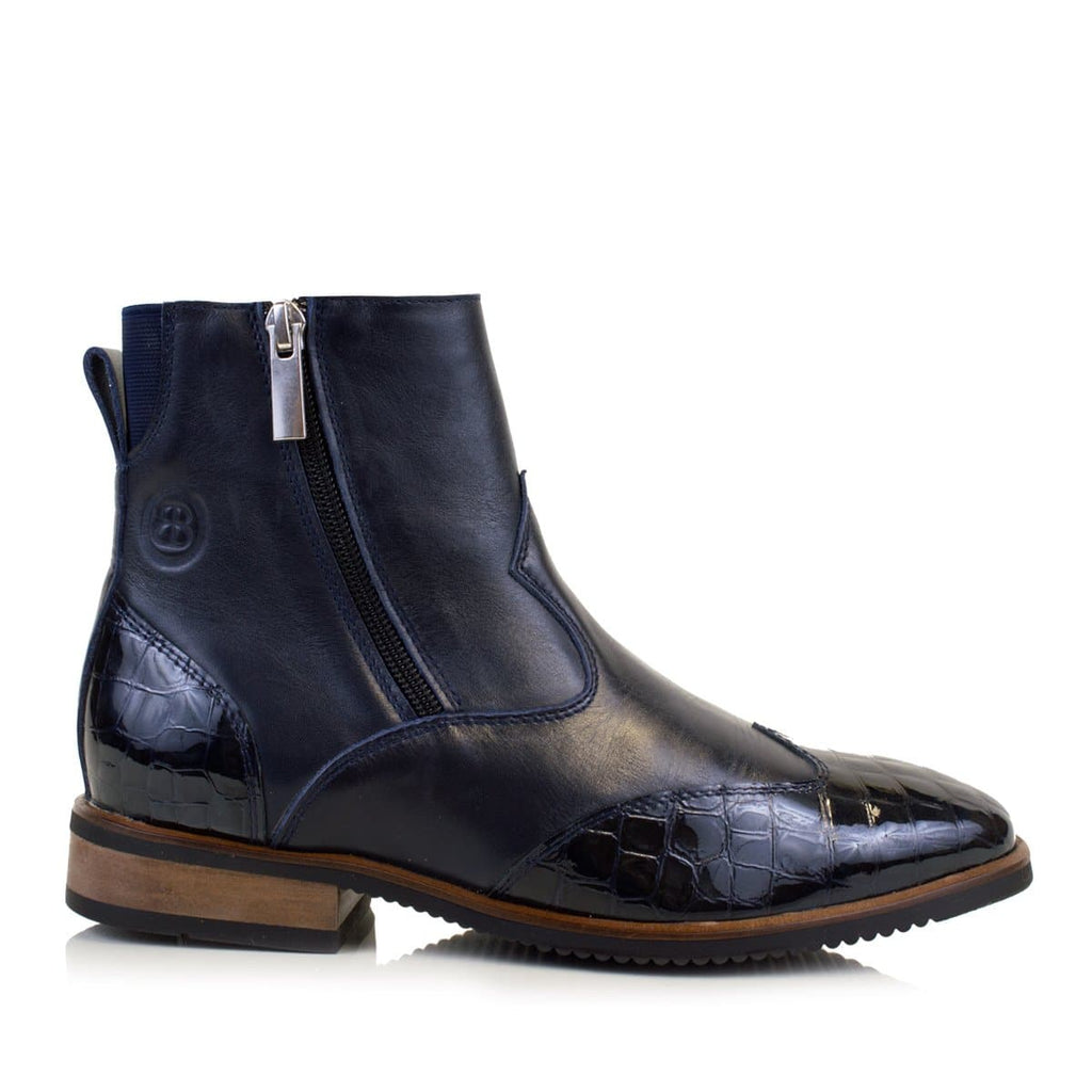 Monroe  Blue Short Boot - Bareback Footwear