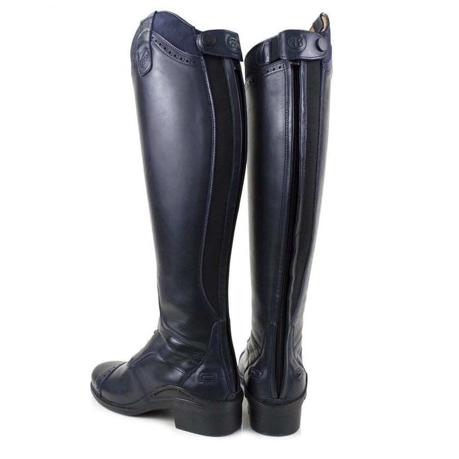 Phoenix Long Riding Boot-Navy - Bareback Footwear