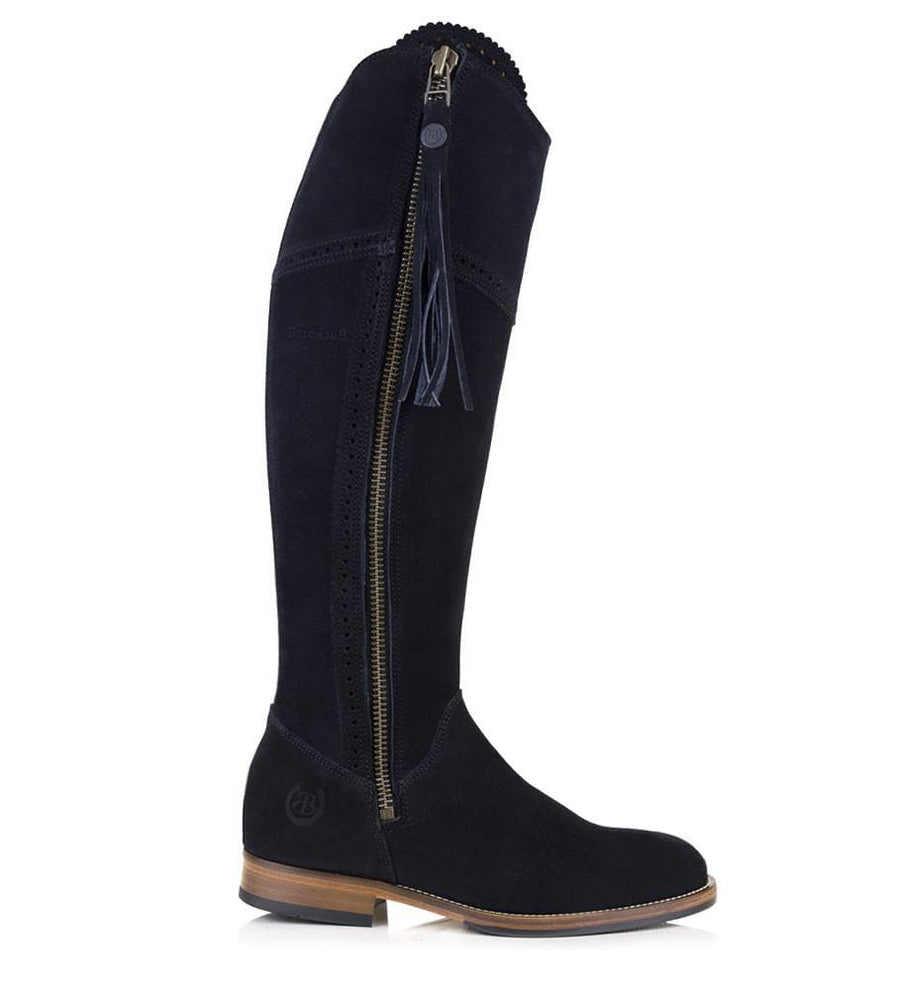 Sovereign Suede Boots with Tassel - Black - Bareback Footwear