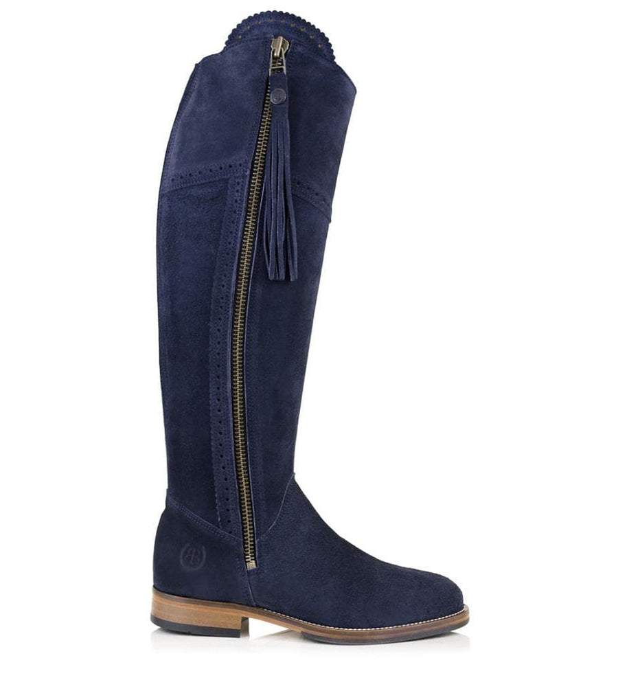 Sovereign Suede Boots with Tassel - Blue - Made to Measure - Bareback Footwear