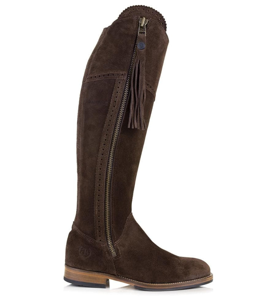 Sovereign Suede Boots with Tassel - Brown - Made to Measure - Bareback Footwear