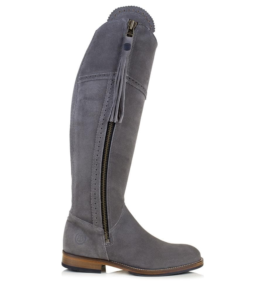 Sovereign Suede Boots with Tassel - Grey - Bareback Footwear