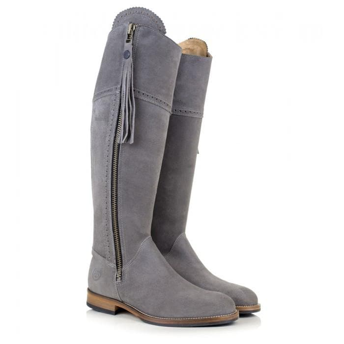 Sovereign Suede Boots with Tassel - Grey - Made to Measure - Bareback Footwear