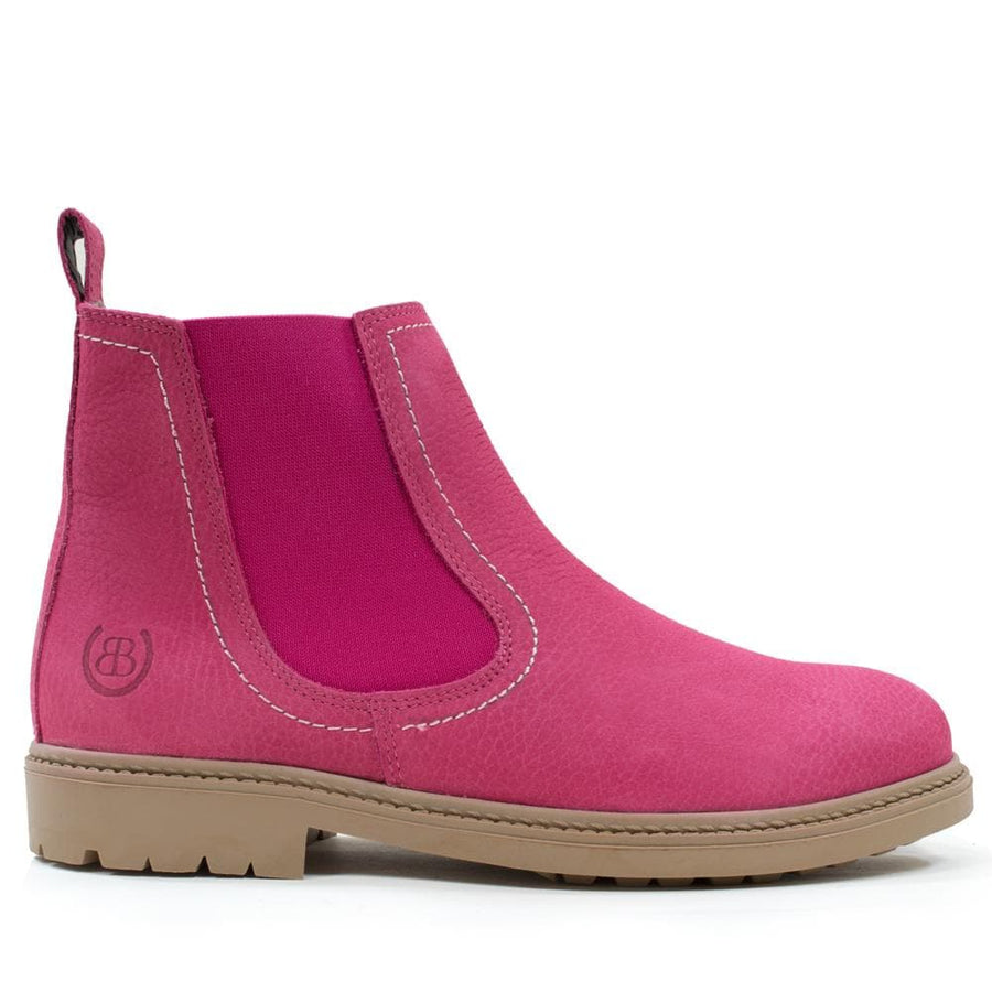 Toddy Raspberry Adults Short Boot - Bareback Footwear