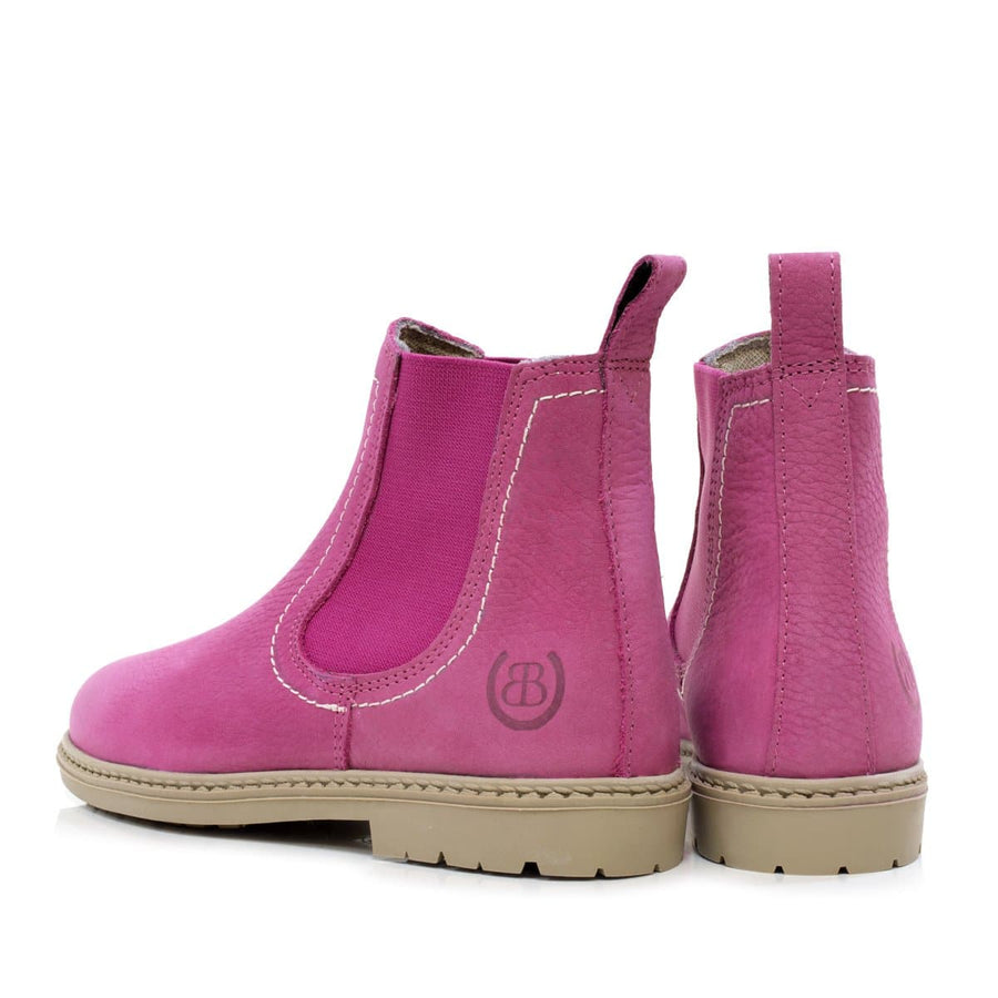 Toddy Raspberry  Chidlrens Short Boot - Bareback Footwear