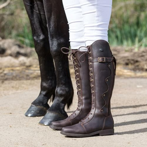lace up big size riding boot