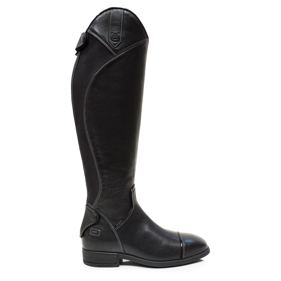 Georgia - Long Riding Boot-Black-Made to Measure - Bareback Footwear