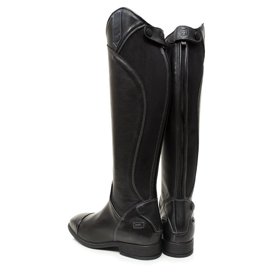 Georgia - Long Riding Boot - Black - Bareback Footwear