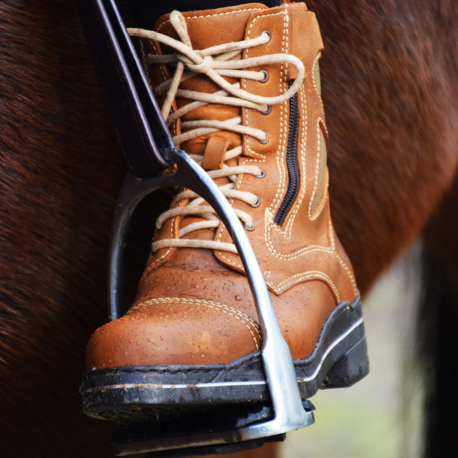 Kentucky Short Riding Boots - Havana - Bareback Footwear