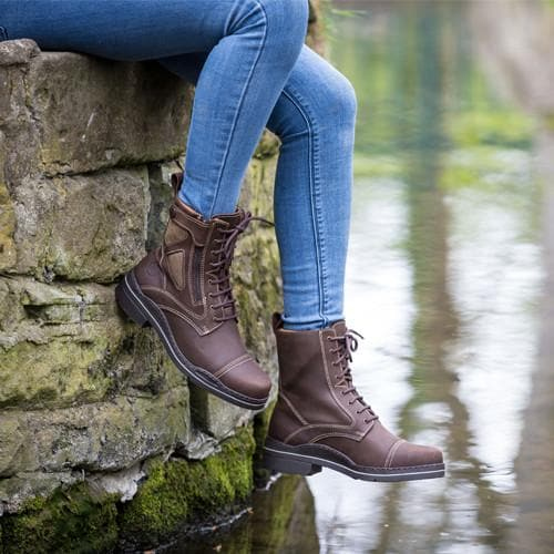 Kentucky Short Riding Boots - Brown - Bareback Footwear
