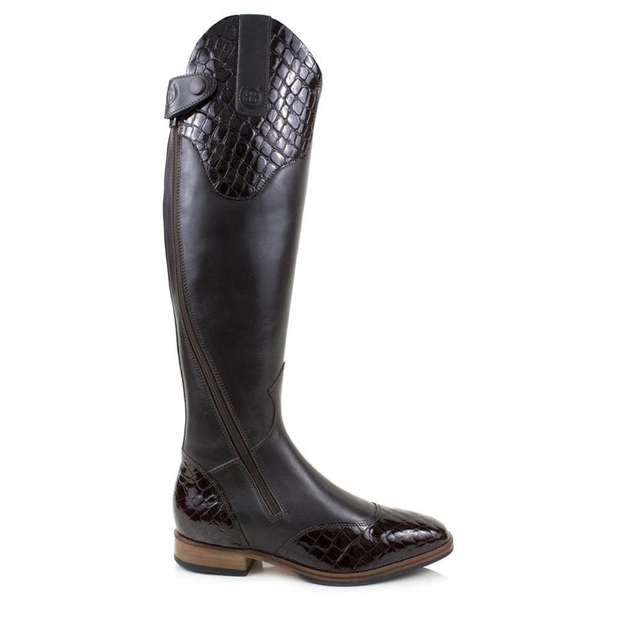 Milan Long Riding Boots - Brown - Made to Measure - Bareback Footwear